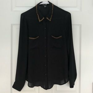 Women's blouse black and gold small Size